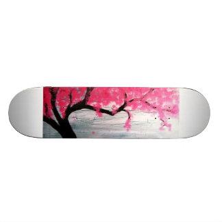 Árbol de la flor de cerezo tabla de patinar