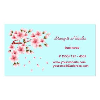 Árbol de la flor de cerezo tarjeta de negocio