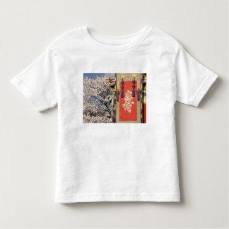 Árbol de la flor de cerezo y tapicería de la seda playeras