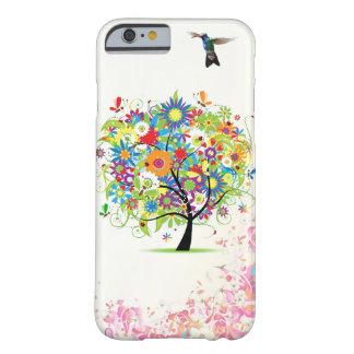 Árbol de la flor funda de iPhone 6 barely there