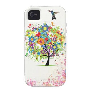 Árbol de la flor iPhone 4/4S fundas