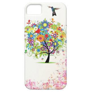 Árbol de la flor iPhone 5 carcasas