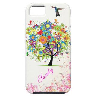 Árbol de la flor iPhone 5 funda