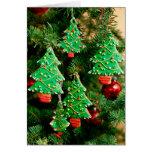 Árbol de la galleta del navidad felicitación