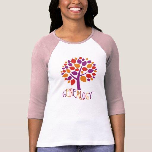 Árbol de la genealogía camiseta