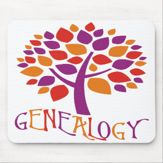 Árbol de la genealogía tapete de ratones