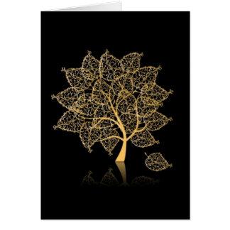 Árbol de la genealogía tarjeta