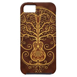 Árbol de la guitarra Brown de oro iPhone 5 Cárcasas