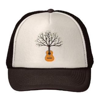 Árbol de la guitarra gorros bordados