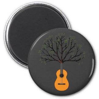 Árbol de la guitarra imán redondo 5 cm