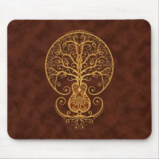 Árbol de la guitarra (marrón) tapete de ratones