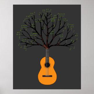 Árbol de la guitarra posters