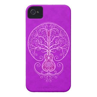 Árbol de la guitarra - púrpura Case-Mate iPhone 4 protectores