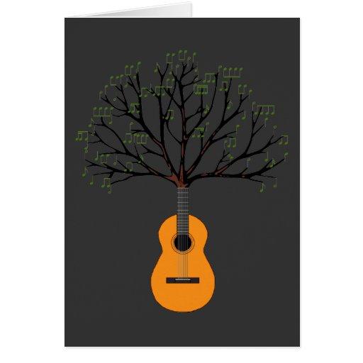 Árbol de la guitarra tarjetón