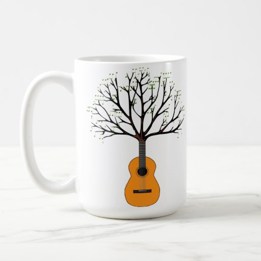 Árbol de la guitarra taza básica blanca
