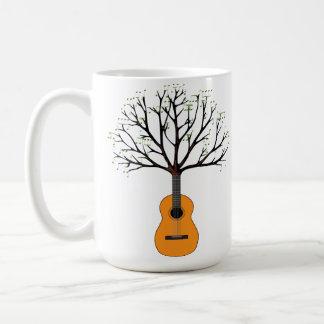 Árbol de la guitarra taza clásica
