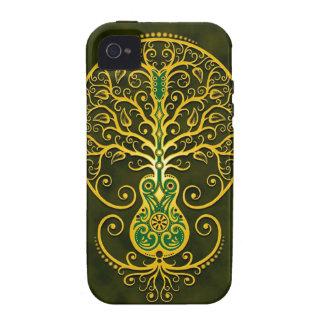 Árbol de la guitarra, verde de oro iPhone 4/4S funda