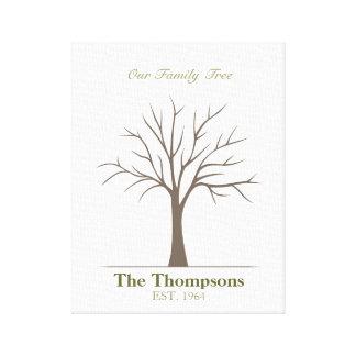 Árbol de la huella dactilar de la familia impresiones en lienzo estiradas