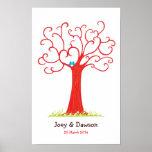 Árbol de la huella dactilar que casa Heartastic (r Poster
