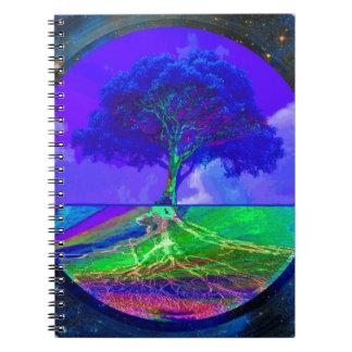 Árbol de la imaginación y de Vision de la vida Cuaderno