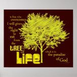 Árbol de la impresión cristiana de la lona de la e poster