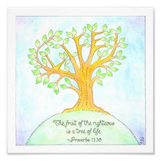 Árbol de la impresión de la vida cojinete