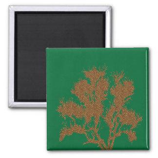 Árbol de la impresión del guepardo iman de nevera