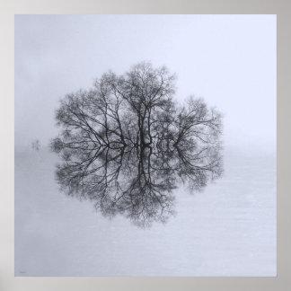 Árbol de la impresión del poster del arte de la re