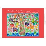 Árbol de la invitación de boda de la enhorabuena d felicitación
