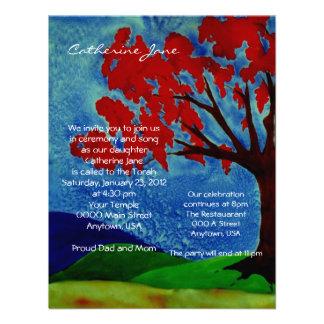 Árbol de la invitación de Mitzvah del palo de la v
