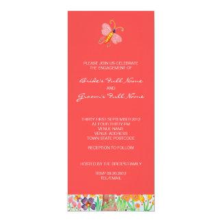 Árbol de la invitación del compromiso del boda de invitación 10,1 x 23,5 cm