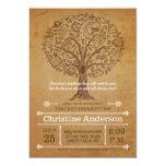 Árbol de la invitación del retiro del profesor del invitación 12,7 x 17,8 cm