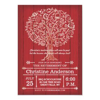 Árbol de la invitación del retiro del profesor del