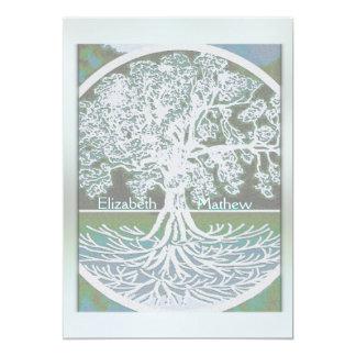 Árbol de la invitación el | del boda de la vida