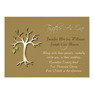 Árbol de la invitación elegante del boda de la