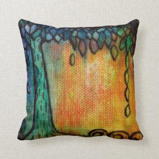 Árbol de la joya y almohada de tiro coloridos de