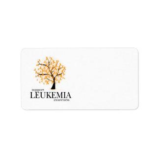 Árbol de la leucemia etiqueta de dirección
