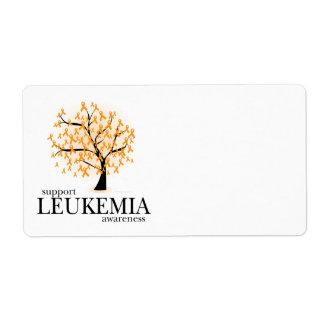 Árbol de la leucemia etiquetas de envío