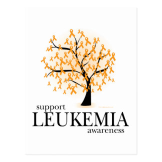 Árbol de la leucemia tarjeta postal