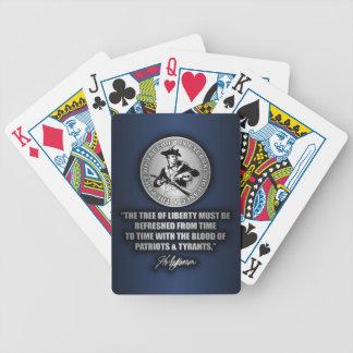 Árbol de la libertad baraja cartas de poker