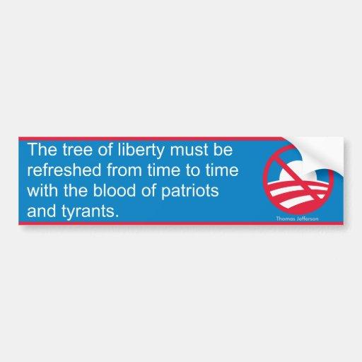 Árbol de la libertad (Jefferson) Pegatina De Parachoque