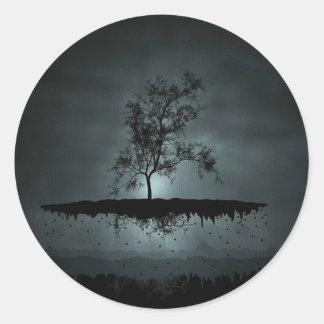 Árbol de la libración pegatina redonda