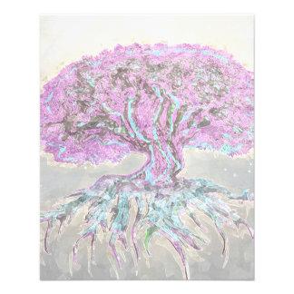 """Árbol de la ligereza de la vida folleto 4.5"""" x 5.6"""""""