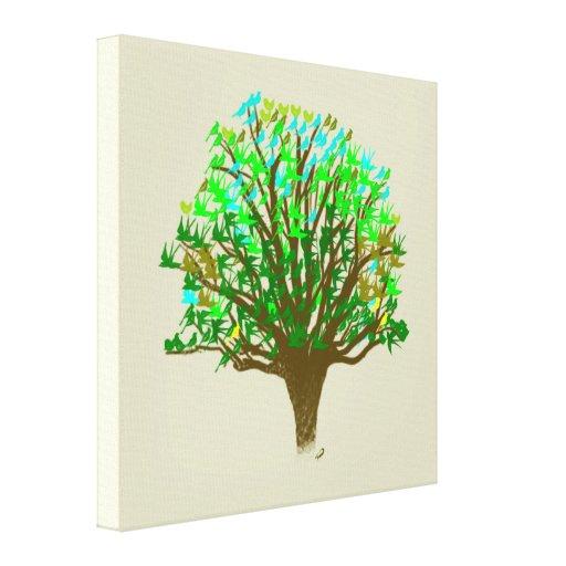 Árbol de la lona envuelta de la vida impresion de lienzo