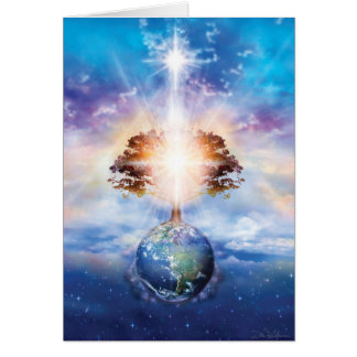 Árbol de la luz tarjeta de felicitación