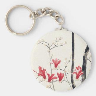 Árbol de la magnolia de Kobayashi Kokei, Llavero Redondo Tipo Pin