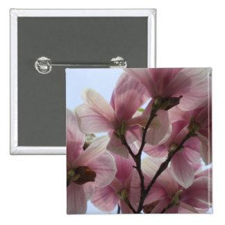 Árbol de la magnolia en el Pin del cuadrado de la  Pin Cuadrada 5 Cm