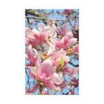 Árbol de la magnolia impresión en lienzo estirada