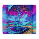 Árbol de la meditación de la vida en púrpura tabla de cortar
