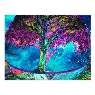Árbol de la meditación de la vida tarjeta postal